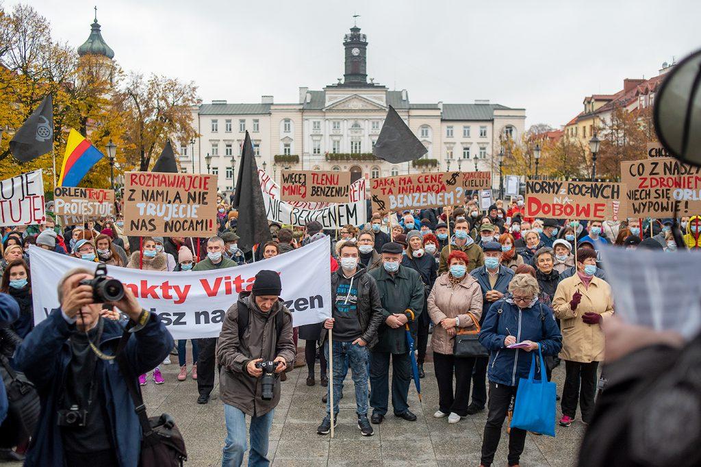 Październik 2016. Płocczanie ponownie protestują przeciwko PKN Orlen